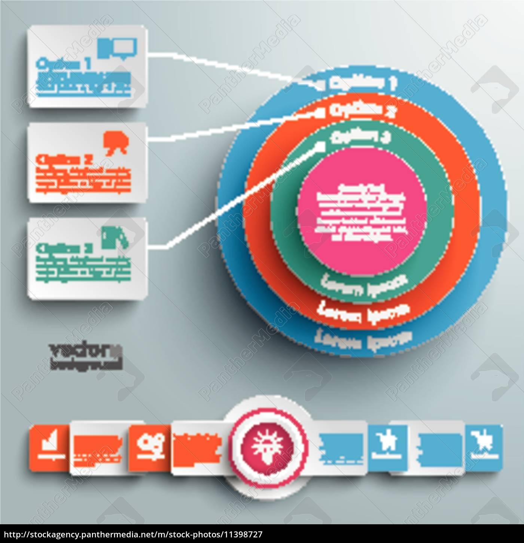 farbiger, ring, in, ringen, infografische, rechtecke - 11398727