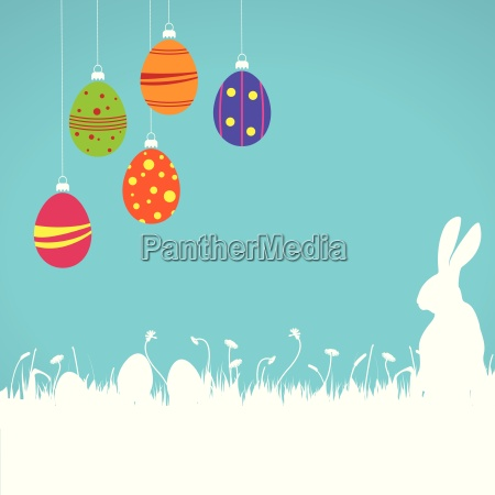 easter card background colored eggs