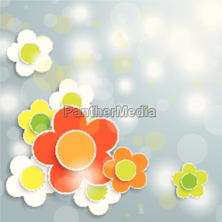 easter card grey background colored and