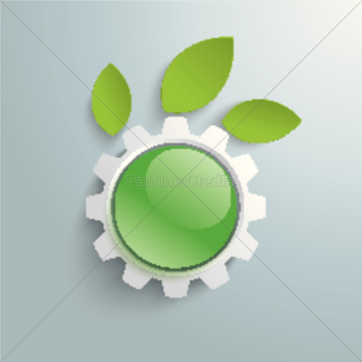 green, technology, gear, leaves, green, button - 11399750