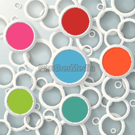 infographic white rings colored circles