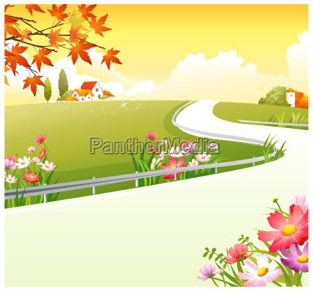overpass over green landscape