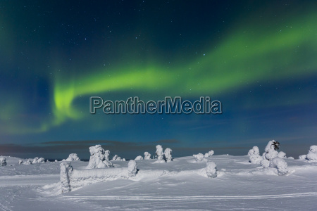 polarlicht aurora borealis kittilae finnland