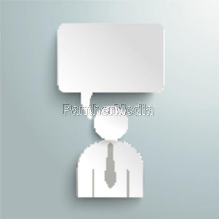 paper human speech bubble piad