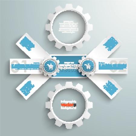 round triple banner 2 gears