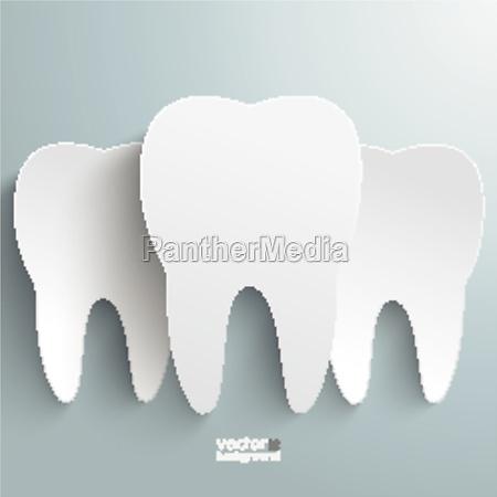 three white teeth