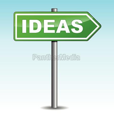 ideas arrow sign