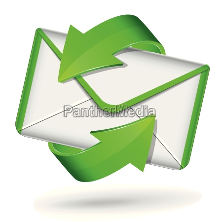 vector mail green icon