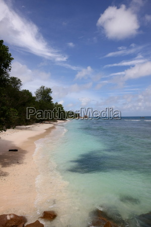 palms coast lagoon seychelles firmament sky