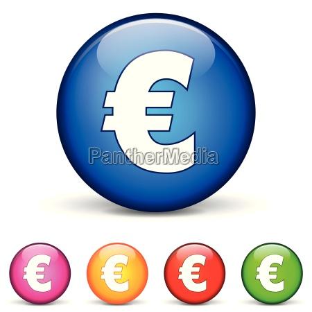 euro round icons