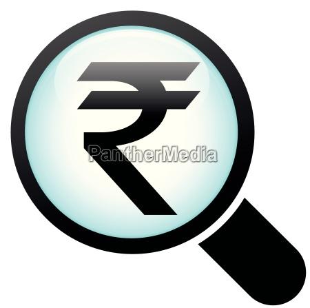 rupee glass icon