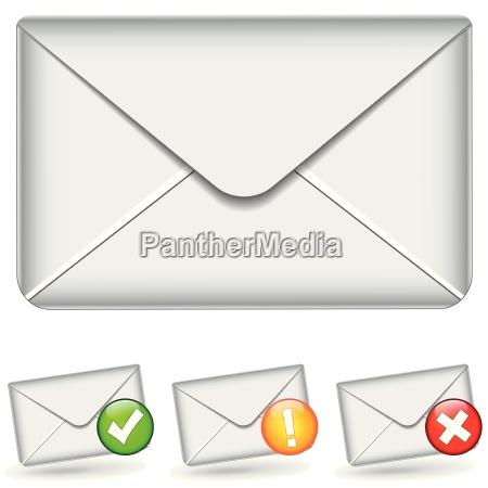 satz von e mail symbole