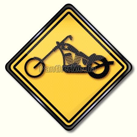 schild motorrad oder chopper