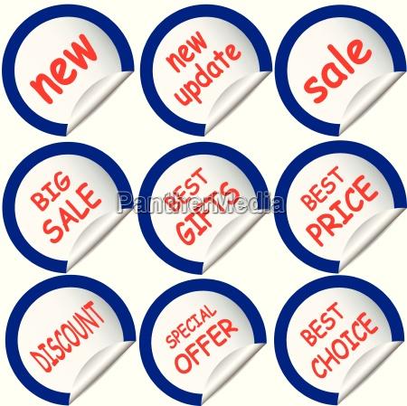 blue sticker sticker