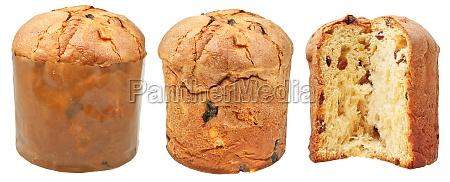 seitenansichten von ostern kuchen auf weiss