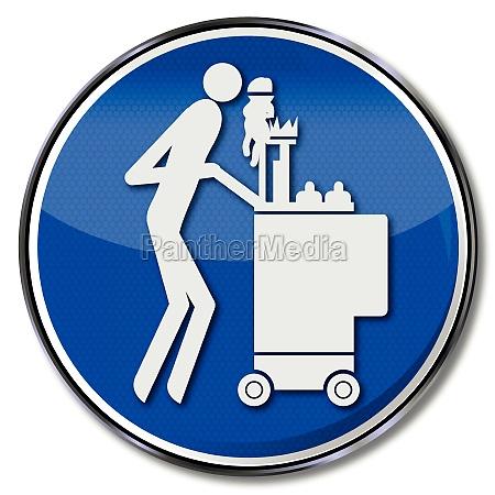 schild putzfrau und reinigungskraft