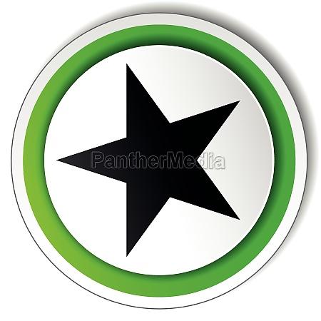 vector round star icon