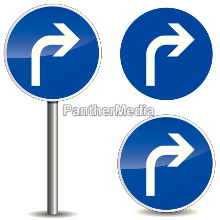 vector right signpost