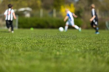 verschwommenes fussballspieler