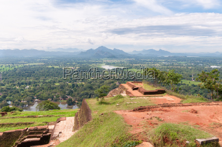 top of the sigiriya rock temple