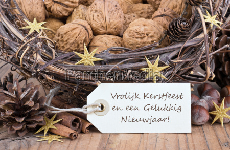 dutch text lettering christmas happy new