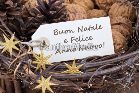 italian text lettering christmas happy new