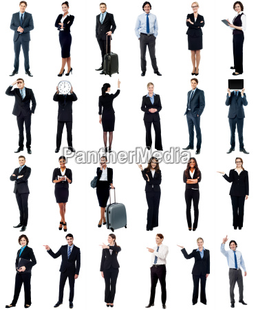 group of business people collage concept