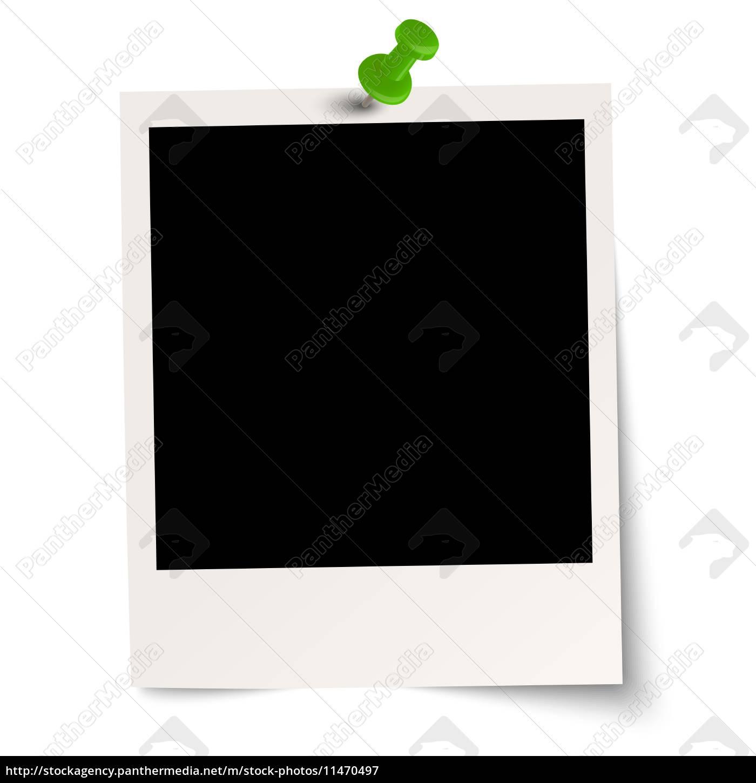 leeres Polaroid mit Pin - Stockfoto - #11470497 - Bildagentur ...
