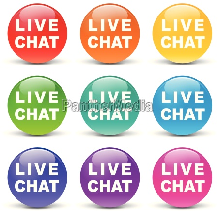 vector live chat icons