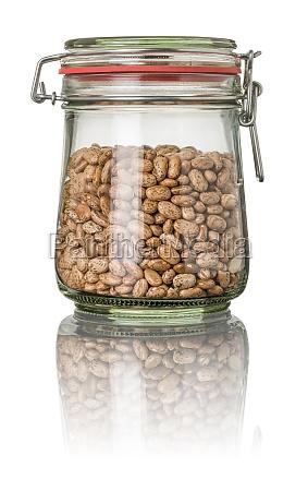 wachtelbohnen in einem einmachglas