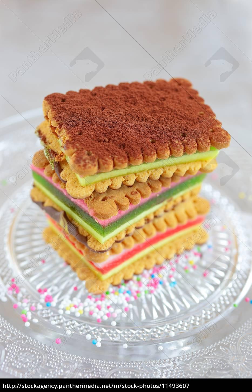 Schicht Kekse Kuchen Lizenzfreies Bild 11493607 Bildagentur