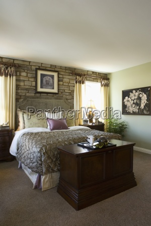 master bedroom with large bed and