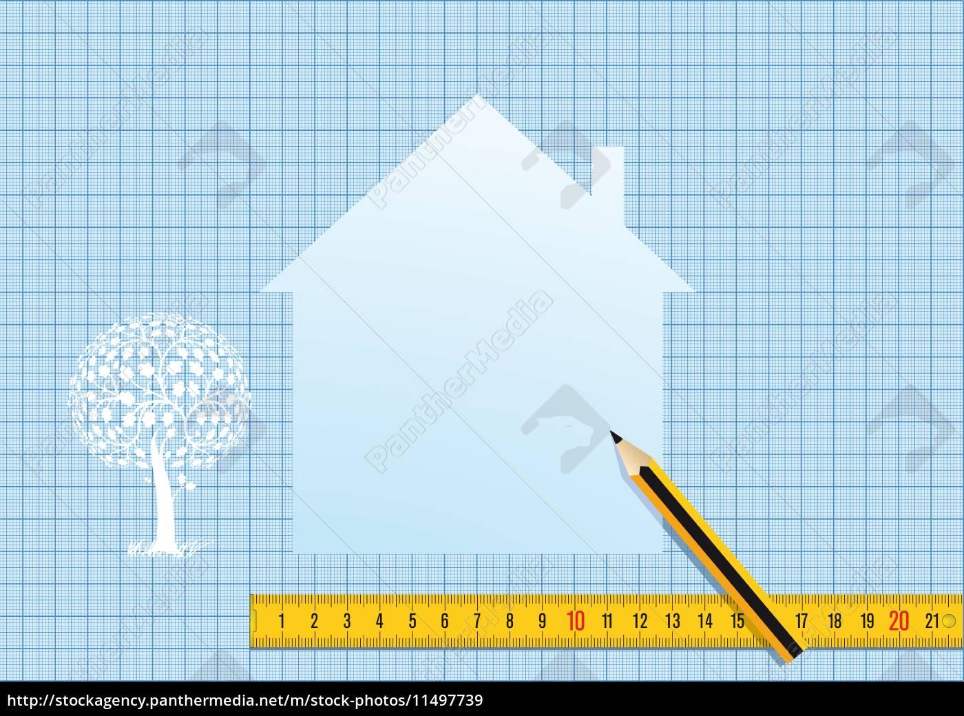 Haus Planen Und Entwerfen Lizenzfreies Bild 11497739