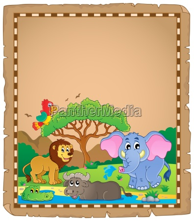 parchment with african animals 2