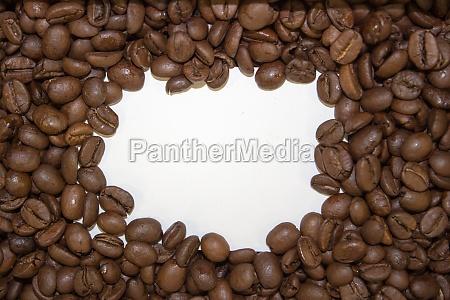 kaffee kaffe kaffeebohne einzelbild einrahmen fisole