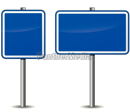 vector dark blue signpost