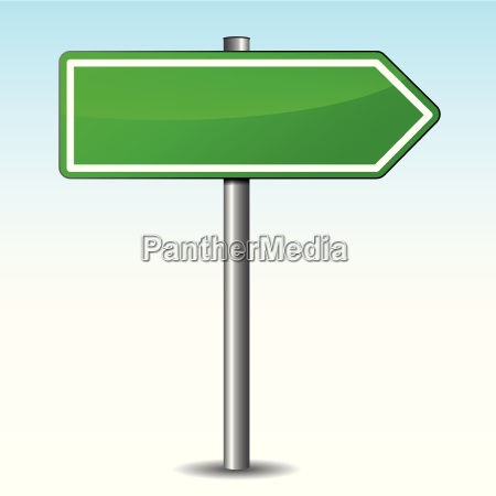 vector green arrow sign