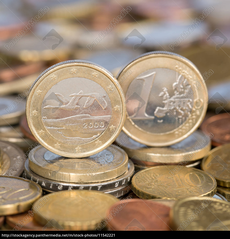 1 Euro Münze Aus Finnland Stockfoto 11542221 Bildagentur