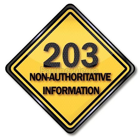 computerschild 203 non authoritative information