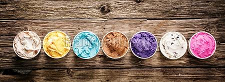 assorted flavors of gourmet italian ice