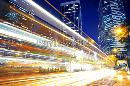 high speed traffic and blurred light