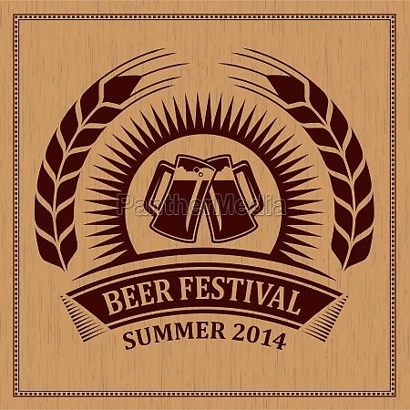 beer festival icon symbol vector