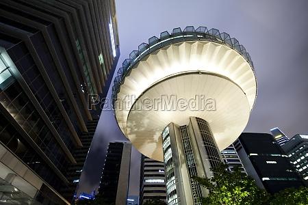 stadtbild von singapur finanzplatz
