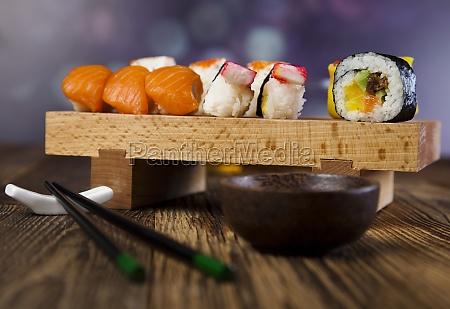 traditional japanese food sushi