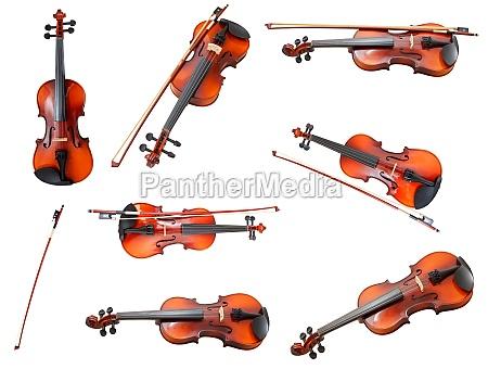 set der klassischen moderne violinen und