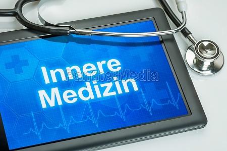 tablet mit dem fachgebiet innere medizin