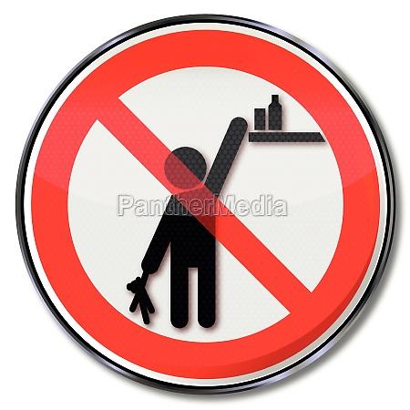 verbotsschild bitte produkte vor kinder unzugaenglich