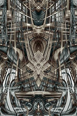 abstraktes futuristisches gebaeude