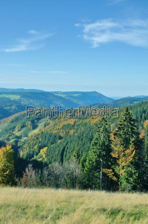 blick von der schwarzwaldhochstrasse baden wuerttemberg
