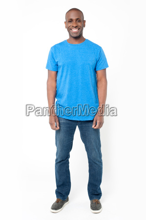casual man posing on white background